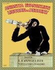 Decor Poster.Home interior design.Room art decoration.Monkey drinking wine.6937