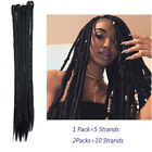 100% Handmade Dreadlocks Synthetic Crochet Reggae Braids Locs Hair Extensions Jk