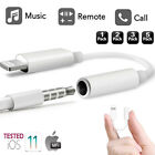 White Lighting to 3.5mm Headphone Jack aux Cable Adapter Compatible iPhone X Lot