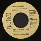 DAVID CASSIDY: Get It Up For Love / Mono 45 (dj, strong VG, killer Ned Doheny c