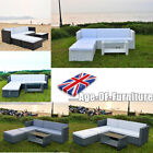 Outdoor Garden Furniture Patio Corner Sofa Beach Summer 4-5 Seater Led Table Set