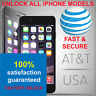 VIP PHONE UNLOCK SERVICE FOR CLEAN AT&T USA APPLE iPHONE  5 6 7 8 SE X XR XS MAX