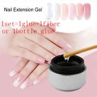 Builder Nail Extension Gel With Fiberglass 3D Crystal Jelly Extend Tool Set