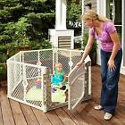 """baby Playpen Safe Play Yard 6-Panel Folds up Freestanding 18.5 sq. ft 26"""" Tall"""