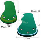 Portable 3-Hole Golf Anti-Slip Putting Practice Training Green Blanket Mat 3m