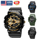SMAEL Men's Military Camo Tactical Digital Analog Quartz Shock Sport Army Watch image