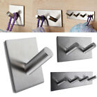 Stainless Steel Self Adhesive Hook Key Rack Coat Bathroom Towel Wall Hangers