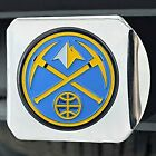 "Sport Chrome NBA Hitch Cover w Multicolor Denver Nuggets Logo for 2"" Receivers on eBay"