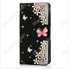 Rhinestone Leather PU Bling Diamond Flip Wallet Case Protective Cover For ZTE