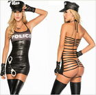 Cool Police O Rings Catsuit Club Outfits LINGERIE EXOTIC MS Party STRIPPER Dress