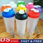 USA 600ml Cup BPAfree Gyration Protein Blender Shaker Mixer Drink Whisk Ball Bottle