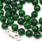 "Hot! 6mm Myanmar Dry Green Emerald Gemstone Beads Necklace 18"" 2019"