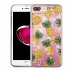 For iPhone 7 8 Plus Bling Hybrid Liquid Glitter Rubber Protective Case Cover