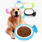 Pet Dog Puppy Plastic Hanging Food Water Cage Crate Mount Bowl Feeder Dispenser
