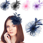 Sinamay Flower Feather Alice Headband Hat Fascinator Race Royal Ascot Hair Band