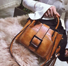 Women Vintage Handbag Shoulder Bags Tote Leather Boho Crossbody Purse Satchel image