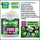 Hemp Extract Cream for Pain Relief ,Sore Muscles & Joint Pain-2000Mg $34.84 USD on eBay