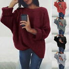 Ladies Streetwear O Neck Long Sleeve Pullovers Loose Knitted Solid Sweater Tops