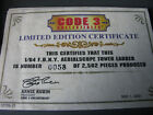 Code 3 FDNY Certificate of Tower Ladder 17 12735-17
