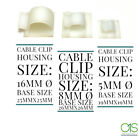 Self Adhesive Cable Clips Mounts Wire Conduit Tubing Nylon Sticky Pads