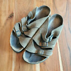 Birki's by Birkenstocl Florida Olive Green Suede Slide Sandals Wpmen's 38 US 7