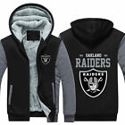Men Women Fleece Oakland Raider Football Hoodie Coat Thicken Jacket Sweatshirt on eBay