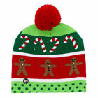 D6F1 LED Light Christmas Hat Protective Beanie Christmas Tree Winter Cap