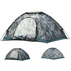 Folding 2-4 Person Camouflage Camping Tent Waterproof Hiking Outdoor Sun Canopy