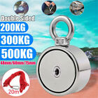 Super Strong Double Side Salvage Pulling Force Neodymium Magnet Detector Fishing
