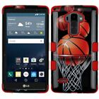 For LG G Stylo LS770 Hybrid TUFF Shockproof Armor Protective Hard Case Cover