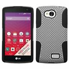 Color Hybrid Mesh Net Hard Dual Level Case Cover for LG Tribute