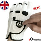 Golf Gloves Left Hand Right Weathersof Grip Leather with Ball Marker Mens 1 Pc