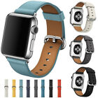 Replacement Leather Watch Strap Wrist Bracelet For Apple Watch Series1/2 38/42mm
