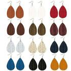 Women's Jewelry Charm Drop-shaped Imitation Leather Woven Pendant Earrings image