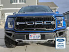 2019 FORD RAPTOR GRILLE LETTERS AMERICAN FLAG SUBDUED W/ OUTLINES OVELAY DECALS