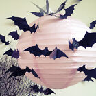 12/24x Halloween Party Decorations Props 3d Bat Vampire Wall Window Stickers Pvc