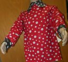 Dotted Glittered Costume Shirt red black sparkly long sleeve collared shirt boys