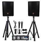 "Rockville RPG2X10 Package PA System Mixer/Amp+10"" Speakers+Stands+Mics+Bluetooth"