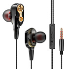 New HIFI Music Bass Earbuds In ear Dual Driver Headset Fever Auricular Audifonos for sale  USA