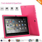 7'inch Google Android 4.2 Wifi Tablet Pc 8gb Quad Core Dual Wifi Camera Kid Gift