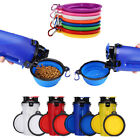 Pet Feeder Tool Dog Cat 2 in 1 Cup Feeding Water Food Bottle Folding Bowl Dishes