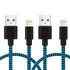 3.3Ft Lightning Type-A Male Line Nylon Braided Cord USB Charger Cable for iPhone