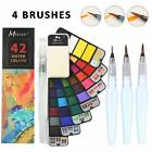 Foldable Watercolor Paint Set   42 Colors with 4 Watercolor Brushes Pens
