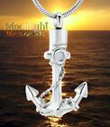 New Anchor Rope Urn Boat Ocean Cremation Pendant Ashes Holder Memorial Necklace