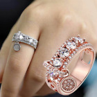Gorgeous Women 925 Silver Wedding Rings Jewelry White Sapphire Ring Size 5-11