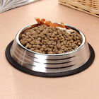 Pet Dog Cat Bowl Puppy Kitten Stainless Steel Bowl Anti Slip H