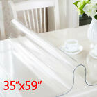 Rectangle Waterproof PVC Clear Transparent Tablecloth Table Cover Mat Protector