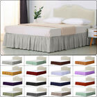 Elastic Bed Ruffle Skirt Easy Fit Wrap Around Soft Twin Full Queen King Size Bed image