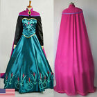 Kyпить 2019 Adult Princess Anna Cosplay Costume Halloween Fancy Stage Dress Set Outfit на еВаy.соm