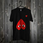 Rare! Comme Des Garcons CDG Red Heart CUSTOM T-Shirt Unisex Funny, S-2XL KS10 image